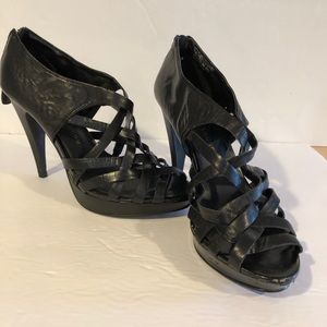Chinese Laundry black stiletto heels zip at back